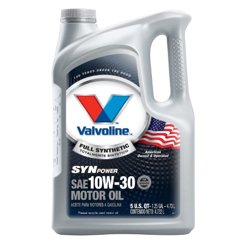 Valvoline SynPower 10W-30 Full Synthetic Motor Oil - 5qt (Case of 3) (787002-3PK)