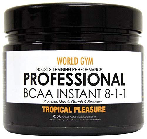 World Gym - AMINOÁCIDOS PROFESSIONAL BCAA INSTANT 8-1-1 - Frutas tropicales - 200 gr.