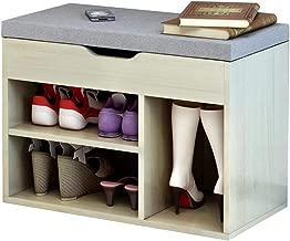Shoe rack Peaceip Shoe Cabinet Simple Modern Home Shoe Bench Console Cabinet Practical Storage Design Breathable Comfort Load 80kg Size Length 60cm Width 30cm Height 45cm (Color : A)