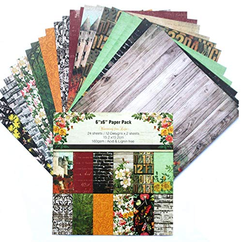 6 Inch Scrapbook Craft Paper Scrapbooking Packs Patroonpapier 24 Vellen, DP100-04