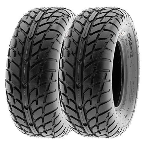 SunF 25x10-12 25x10x12 ATV UTV Tires 6 PR Tubeless A021 [Set of 2]