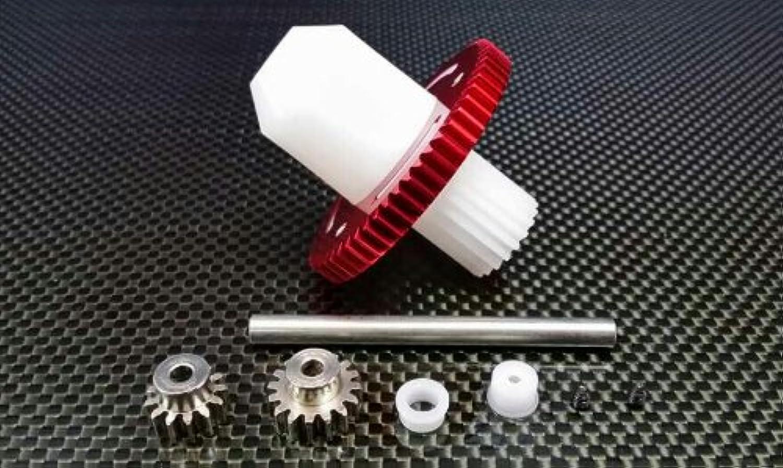 Tamiya CC01 Upgrade Parts Main Gear Set - Red