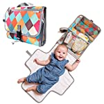 Crib Bedding And Baby Bedding Baby Portable Diaper Changing Pad - Light Travel Clutch And Organizer With Mesh Pockets And Waterproof Mat - Change Station Kit With Head Cushion For Newborn And Infants - Colorful Baby Shower Gift