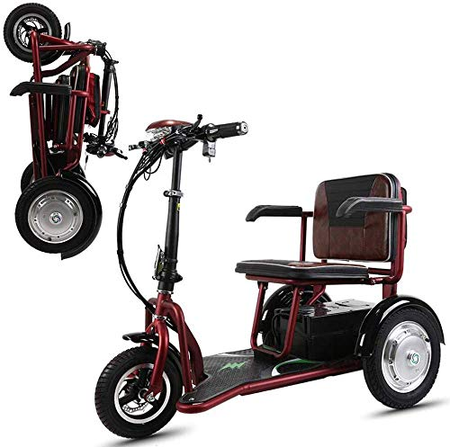 Msoah Dreirad Retro Elektromobil Elektroroller Faltbare Beweglich, Elektroroller 3-Rad, Elektromobil Für Senioren, Scooter E-Mobil, Seniorenfahrzeug