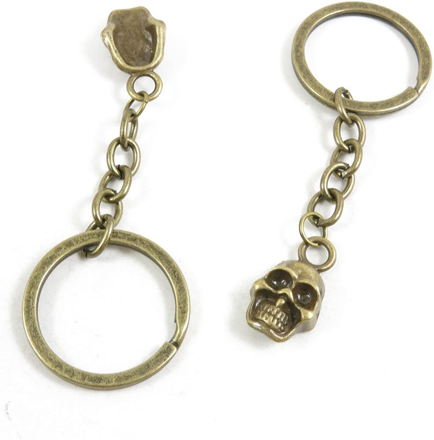 190 Pieces Fashion Jewelry Keyring Keychain Door Car Key Tag Ring Chain Supplier Supply Wholesale Bulk Lots T7QK9 Skull