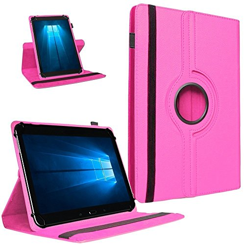 UC-Express Tablet Tasche 360° Drehbar Vodafone Tab Prime 7 Hülle Schutzhülle Universal Hülle Cover, Farben:Pink