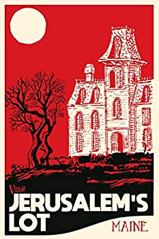 Visit Jerusalems Lot Maine Fantasy Travel Classic Horror Spooky Scary Halloween Decorations Cool Wall Decor Art Print Poster 24x36