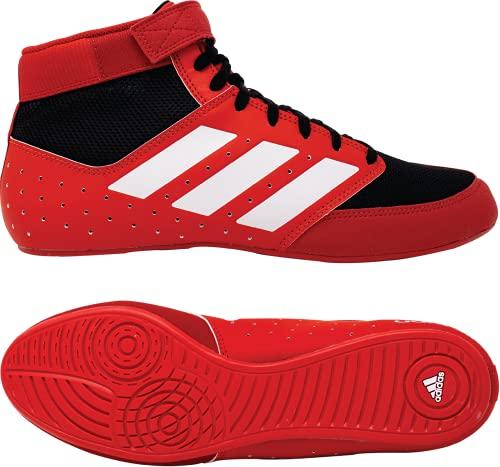 adidas Men's Mat Hog 2.0 Wrestling Shoe (Red/Black/White, 15)