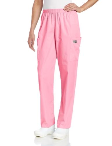 Landau Cargo-Hose für Damen, strapazierfähig, mit 2 Taschen, elastischer Bund, Klassische Passform - Pink - Klein