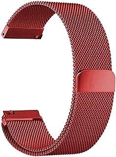 حزام معدني للساعات الذكية متوافق مع سامسونج جالاكسي 46 ملم / هواوي جي تي 2 / جير اس 3 فرونتير وكلاسيك / هونر ماجيك 2 / فوس...