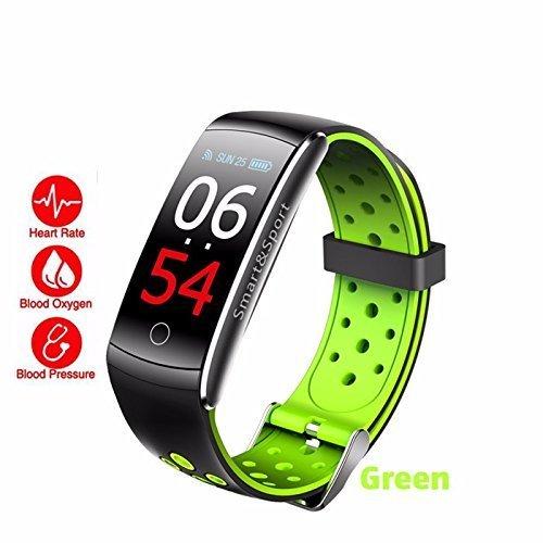 Fitness Tracker Smartwatch für iOS Android, Q8S Bluetooth Wasserdicht Sportuhren Intelligente Uhr mit Herzfrequenz, Blutdruck/Blutsauerstoffüberwachung (Green)