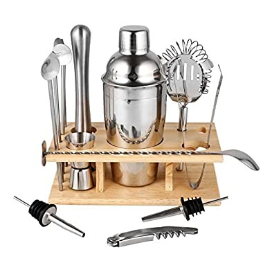 Utheing Cocktail Shaker 14 Piece Stainless Steel Cocktail Shaker Set Bartender Kit Bar Tools Barware