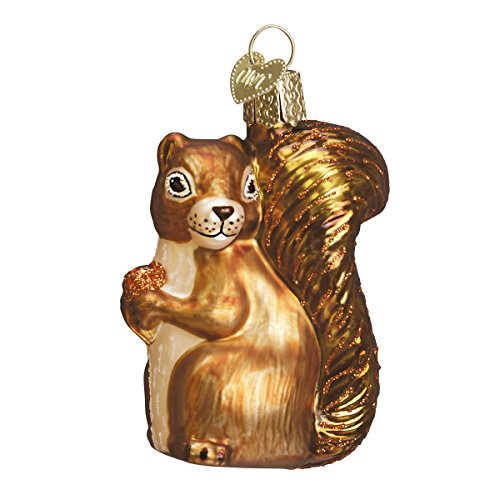 Old World Christmas Squirrel Wildlife Animals Glass Blown Ornaments for Christmas Tree