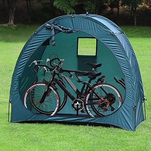 N\A ZT Outdoor Bike Storage Shed Tent Space Saving Portable Pop Up Bike Tent Bicycle Storage Shed All Season Weatherproof And Sun Protectio