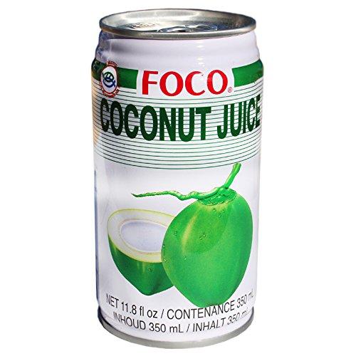 24x350ml Foco Kokosnuss Nektar 80% Kokossaft mit kleinen Kokosstückchen