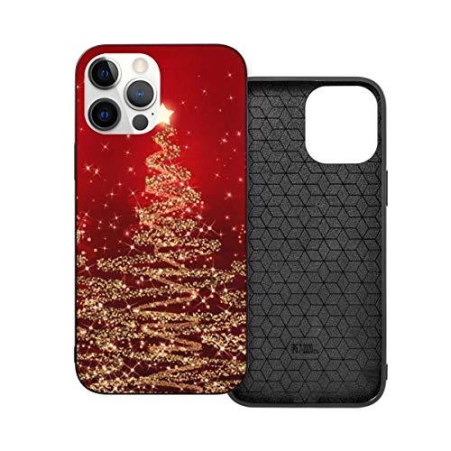 Elegante Navidad espumosos Árboles Rojo tema Anti-caída moda teléfono caso para i-phone 12
