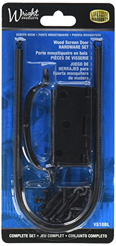 Wright Products VS10BL SCREEN DOOR HARDWARE SET, BLACK