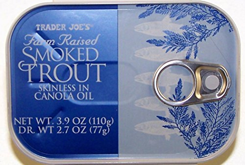 Trader Joe's Farm Raised Smoked Trout Skinless in Canola Oil – (3 Pack)