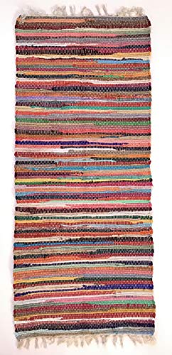Second Nature Online Shanti - Alfombra de trapo (60 x 210 cm), color multicolor