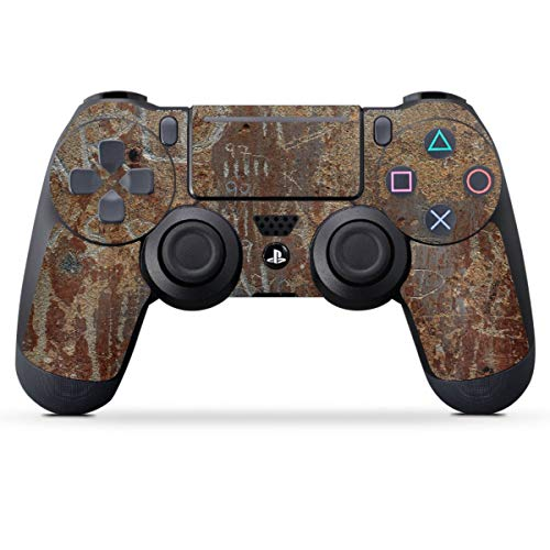 DeinDesign Skin kompatibel mit Sony Playstation 4 PS4 Pro Controller Folie Sticker Rost Metal Metallic Look