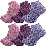 GAWILO 6 Paar Damen Sneaker Socken im degradée Erscheinungsbild – lange Haltbarkeit (39-42, farbig 2 (Set B))