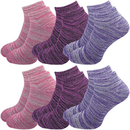 GAWILO 6 Paar Damen Sneaker Socken im degradée Erscheinungsbild – lange Haltbarkeit (35-38, farbig 2 (Set B))