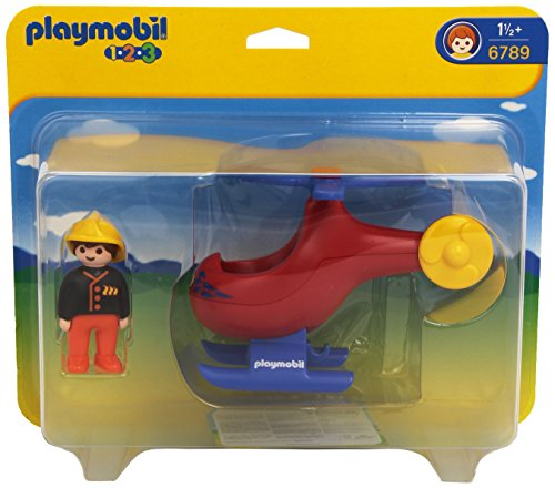 Playmobil 1.2.3 Rescue Helicopter 6789