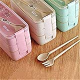 Three-Layer Bento Box for Adults, Lunch Boxes for Kids, Leak-Proof Food Storage Container