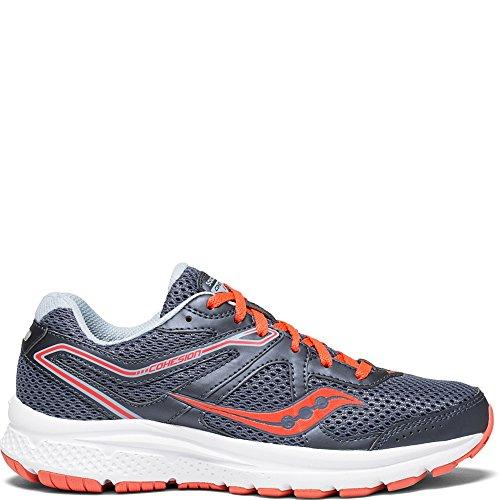 Saucony Women's Cohesion 11 Running Shoe, Grey/red, 12 Medium US