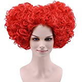 Cfalaicos Women Cosplay Wig for Red Queen (Red)