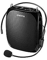 ZOWEETEK ハンズフリー拡声器 小型 スピーカー ポータブル マイク付き 快適 ヘッドセット付き 音声アンプ USBメモリー・microSDカード対応 講義、運動会、防災用、店頭販売、スポーツインストラクターなどに最適!!!