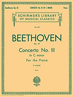 Concerto No. 3 in C Minor, Op. 37 (2-piano score): Schirmer Library of Classics Volume 623 National Federation of Music Clubs 2014-2016 Piano Duet (Schirmer's Library of Musical Classics)