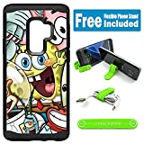 for Galaxy S9 Hybrid Rugged Hard Cover Case - Spongebob Friends
