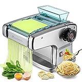 CGOLDENWALL Macchina Per la Pasta Elettrico Wonton Maker Acciaio Inossidabile 6 Regolabile per Spaghetti Pasta e Lasagne (2mm fine, 2,5mm rotondo, 4mm piatto, 9mm largo )
