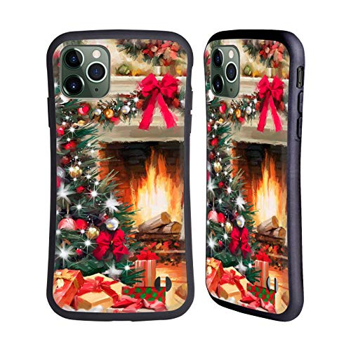 Officiële The Macneil Studio Open haard Kerstboom Hybrid Case Compatibel voor Apple iPhone 11 Pro Max