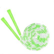 HFDA bamboe springtouw verstelbaar parelspringtouw voor beginners (groen)