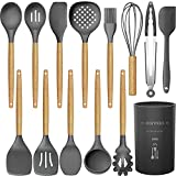 14 Pcs Silicone Cooking Utensils Kitchen Utensil Set - 446°F...