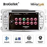 Autoradio 7 pollici Stereo per Ford Focus Mondeo Kuga C-MAX S-MAX Galaxy 2 Din Auto Radio con navigatore GPS Lettore DVD Touch Screen Video Volante USB Controlli Mirrorlink SD