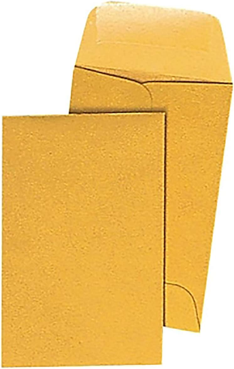 Brown Kraft Coin Envelope #7-3.5 x lb. Ranking TOP15 50 pack 6.5 24 Los Angeles Mall