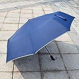 Jinghai Nuevo Paraguas Reflectante Paraguas de Regalo publicitario Plegable Triple Completamente automático Paraguas de Regalo publicitario, Mano Abierta