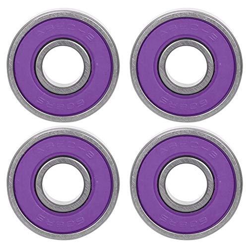 Alomejor Rodamientos de 8 rodamientos Rodamientos de Patines de Rodillos de Longboard para el reemplazo de Tablas de Skate(Purple 7)