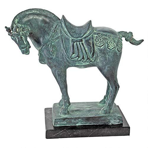 Design Toscano Pferd aus der Tang-Dynastie, Statue aus Bronzeguss
