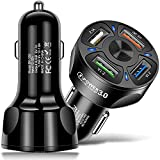 LYLBFOF USB car Charger, 36W/7A[QC3.0 3A-4USB Port] 2.1A 3 Ports Fast car Charger Adapter Mini Cigarette Lighter USB Mobile Phone Charger Fast Charging Compatible with iPhone 12 pro/Max/11/x/8