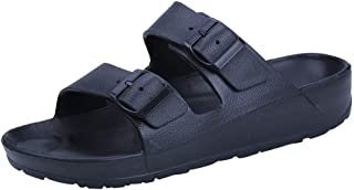 Linkay Slippers for Party Men Boys Students Summer Casual Wear Flat Beach Shoes Ultra Light Double Buckle Sandals Shoes Fa...