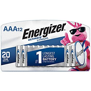 Energizer AAA Lithium Batteries Ultimate Lithium Triple A Battery  12 Count  Longest-Lasting AAA Battery