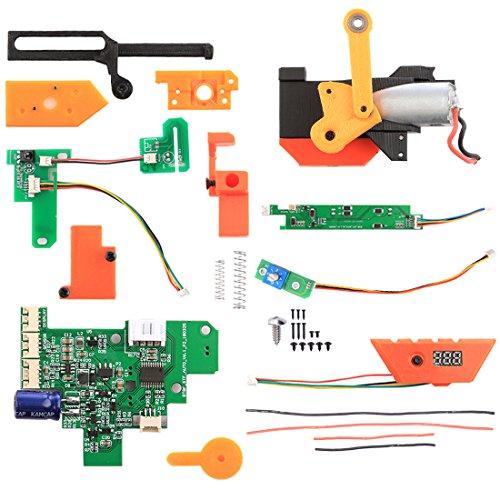 Foxom Kit Auto Auto Auto V6 Single Auto/Triple Auto/Full Auto 3 Modalità Shooting Mod Kit per Nerf Stryfe [versione successiva]