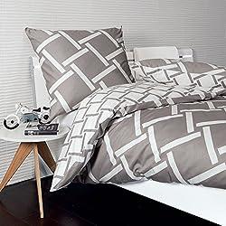 Janine Design Mako-Satin Bettwäsche J.D. 8480-07 1 Bettbezug 155 x 220 cm + 1 Kissenbezug 80 x 80 cm