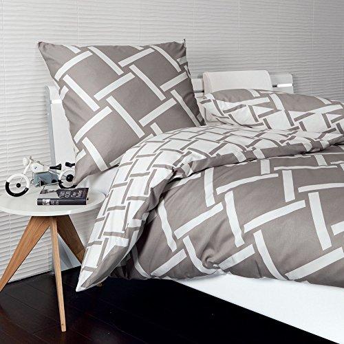 Janine Design Mako-Satin Bettwäsche J.D. 8480-07 1 Bettbezug 240 x 220 cm + 2 Kissenbezüge 80 x 80 cm