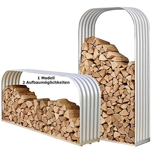 Kaminholzunterstand Brennholzregal Kaminholzregal Holzunterstand Stapelhilfe Lager Alu feuerverzinkt