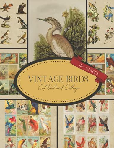 Aves vintage recortados y collage: Ephemera para diarios de basura, álbumes de recortes, decoupage, creación de tarjetas y proyectos de arte mixtos (libros de collage)